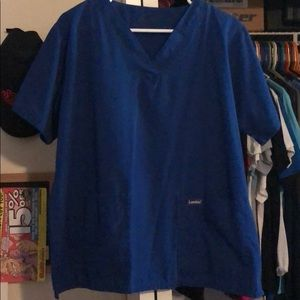 Men's landau double pocket scrub top